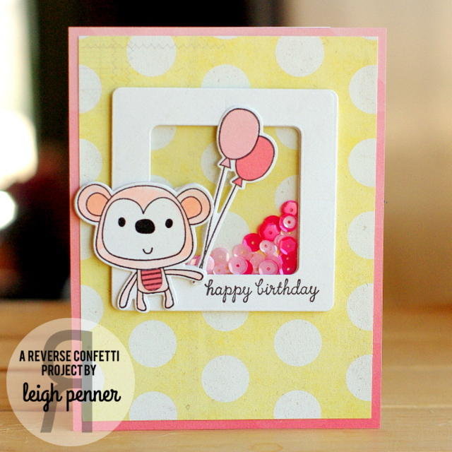 Countdown to Confetti: Monkey Business & Party Hats Leigh Penner @reverseconfetti #reverseconfetti #cards