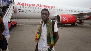 IKANE, à l'aéroport de Nairobi pour le Sommet des Communautés Google Afrique en 2013
