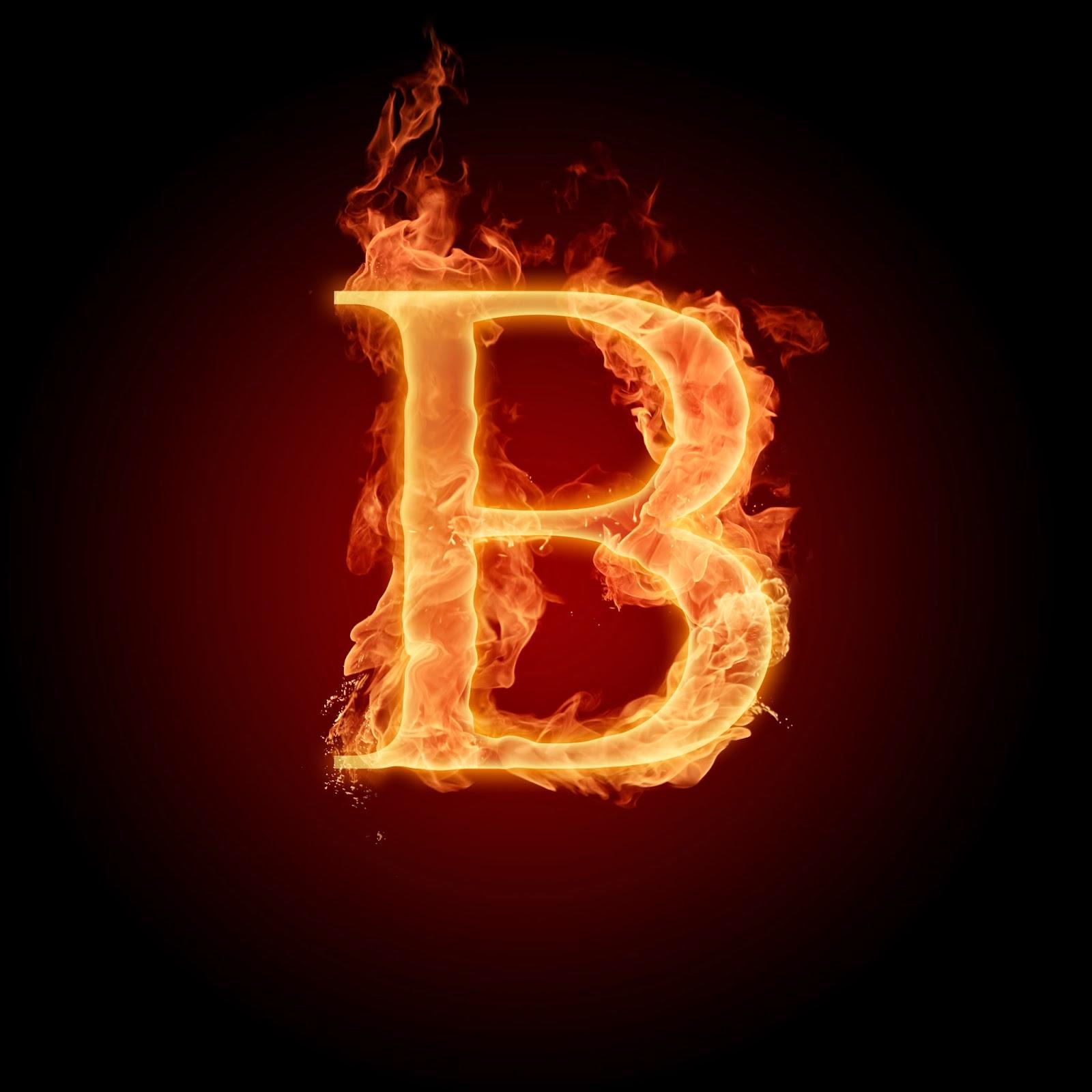 Free Burning Fire Letter Alphabet