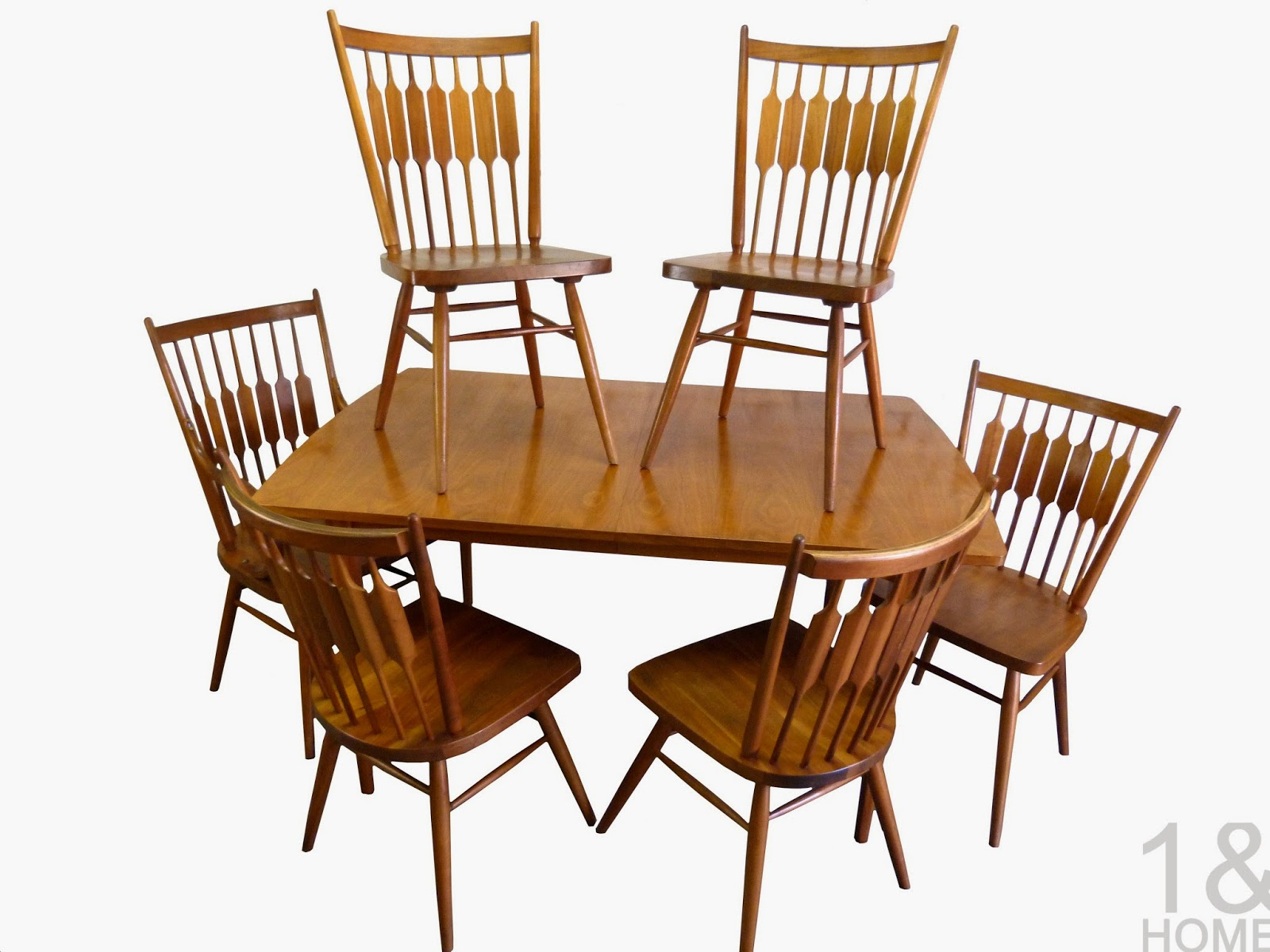 Drexel Declaration Centennial Stewart MacDougall Kipp Dining Room Table Chairs Mid Century Modern