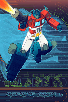 Optimus Prime Transformers Standard Edition Screen Print by Kevin Tong