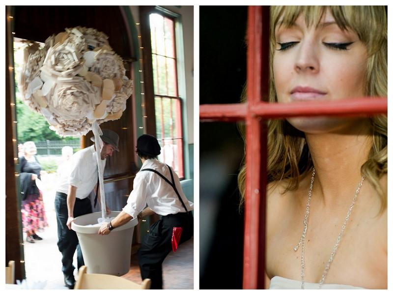 Real Wedding Emily Shimby Artistic Unique DIY Wedding