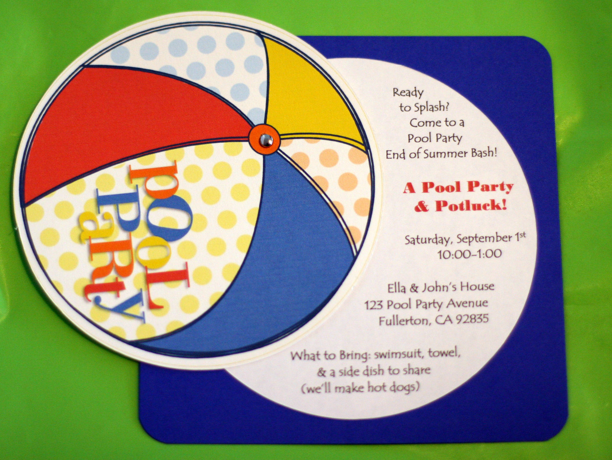 Invite and Delight: Last Minute Pool Party