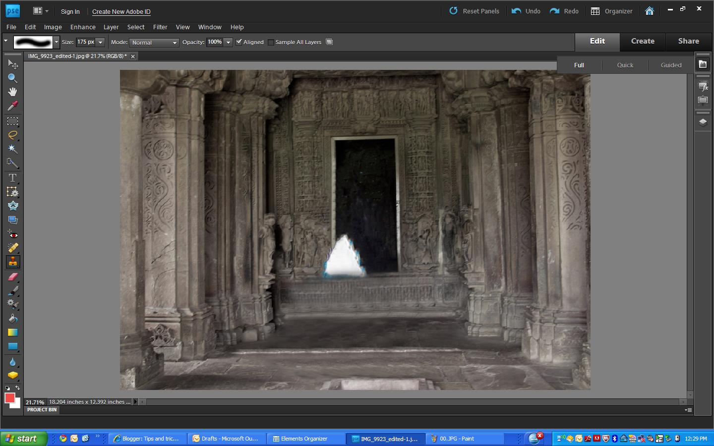 Tips and tricks for photoshop elements how to remove an object tips and tricks for photoshop elements how to remove an object from a scene and create background content to fill the hole using pse9 baditri Images