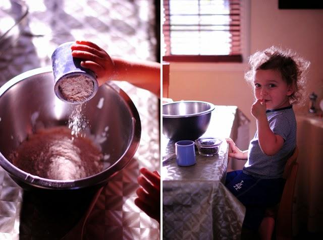 making the recipe