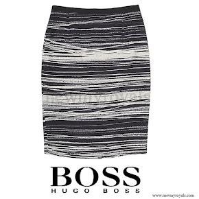 Queen Letizia wore HUGO BOSS Vapina Skirt