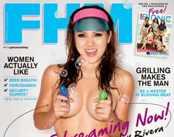 Petra Mahalimuyak aka Ashley Rivery poses for FHM PH for the first time