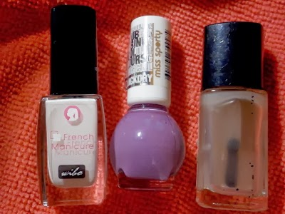 Wibo French Manicure nr 1, Miss Sporty Clubbing Colours nr 344, Vipera top matujący