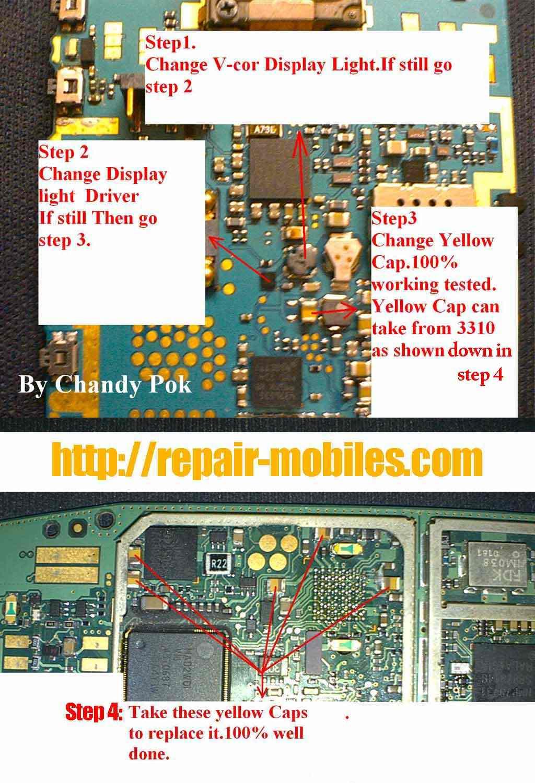 led lights problem nokia n95 lcd display led lights problem