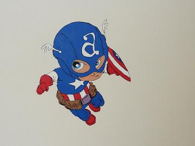 Captain America mural