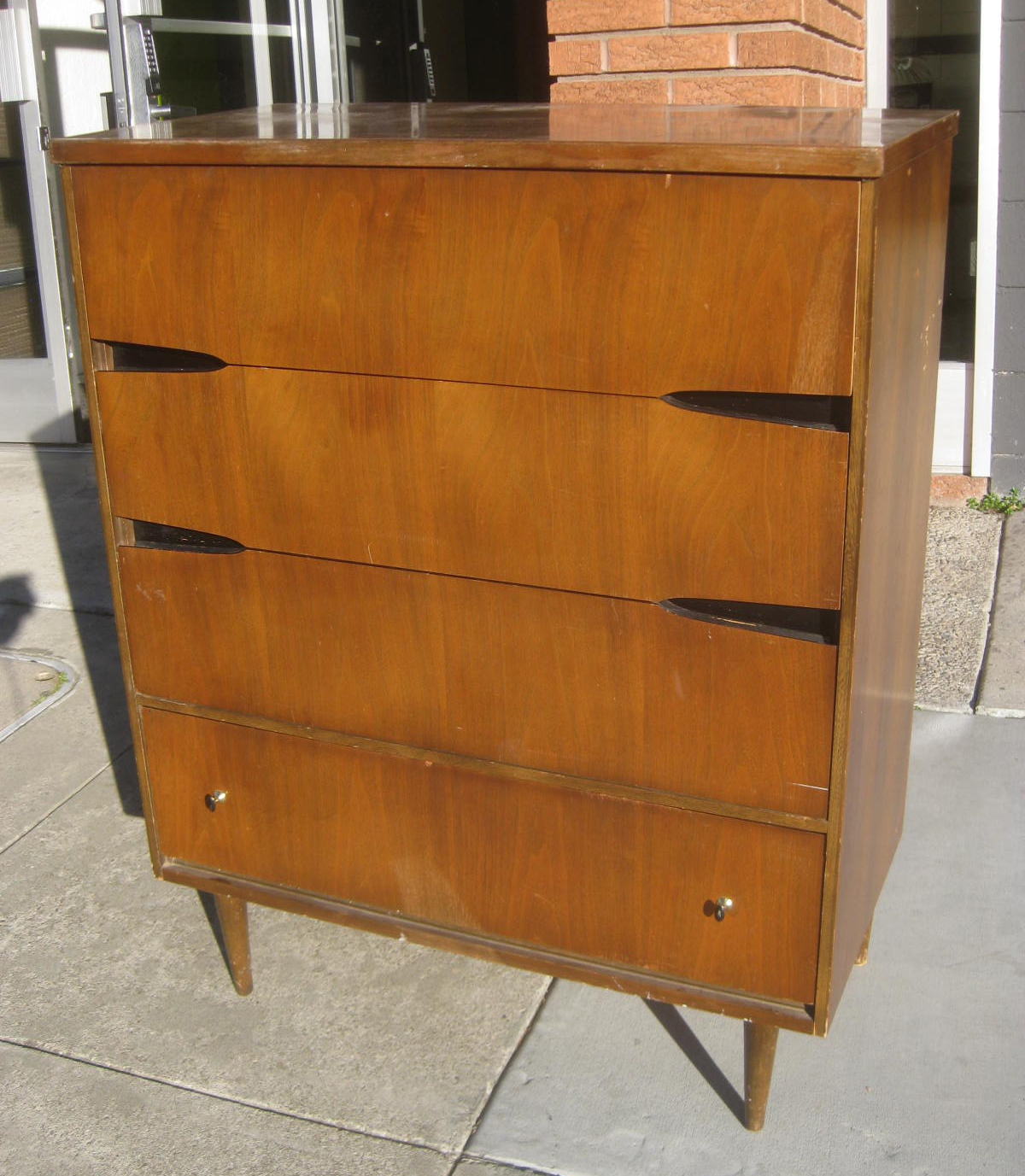 Sold   Danish Modern Chest Of Drawers   $90