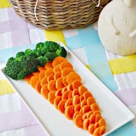fun display veggies vegetables carrot cut broccoli party potluck kids healthy food