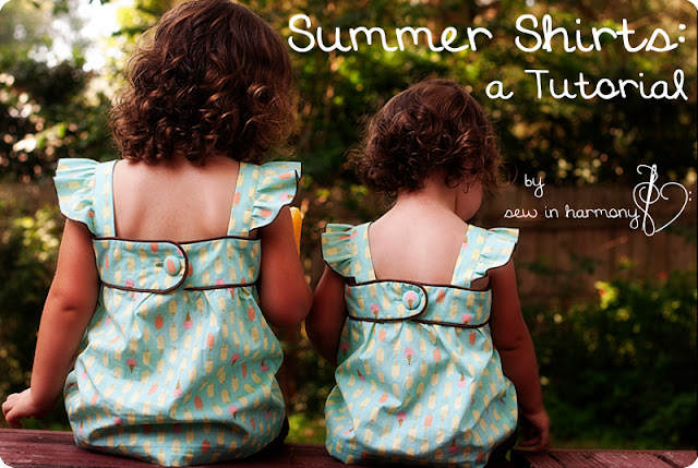 summer shirts sewing tutorial