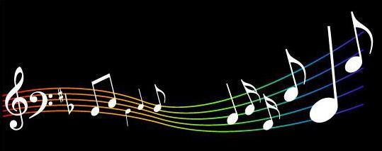 """Cette image représente une portée musicale avec des notes blanches sur une portée dont les lignes oindulées sont multicolores (on trouve du rouge, du jaune, du orange, du vert, du bleu, du violet avec diverses nuances) sur fond noir. Cette image très esthétique et stylée illustre le poème """"So do mi douce mélodie"""" du Marginal Magnifique"""" qui, avec beaucoup d'humour comme à son habitude dénonce les travers de la société capitaliste et de consommation. L'idée générale du poème est que nous nous faisons tous avoir par le système, que nous sommes obligé de courber l'échine et de nous résigner, afin qu'il fonctionne et pour ne pas se faire broyer. En somme, pour employer une métaphore répandue, nous nous faisons enculer, autrement dit dans un langage plus soutenu, nous sommes sodomisés par le système. Le titre du poème joue avec les mots en décomposant le mot """"sodomie"""" dont les syllabes ont le même son que des notes de musiques. Le choix de l'image accompagnant ce brillant, stylé, et amusant poème du Marginal Magnifique se comprend aisément à la suite de ces explications."""