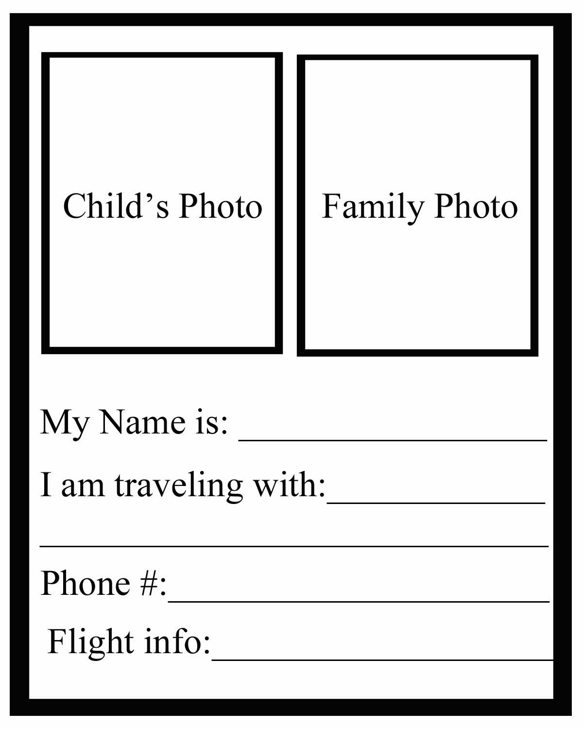 Kids ID Travel Tags Helps For The NonVerbal Child Tales Of Domestica - Travel name tag template