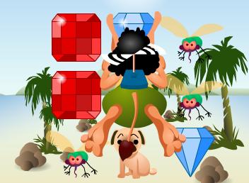 Game Hugo nhặt kim cương, chơi game hugo nhat kim cuong online tại gamevui.biz