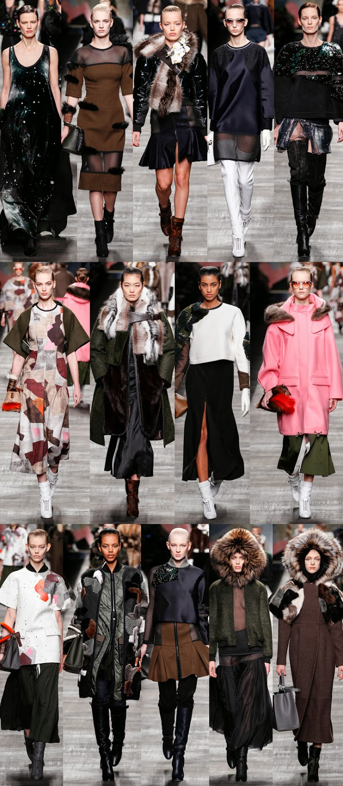 Fendi fall winter 2014 runway collection, Karl Lagerfeld, Silvia Venturini Fendi, FW14, AW14, MFw, Milan fashion week