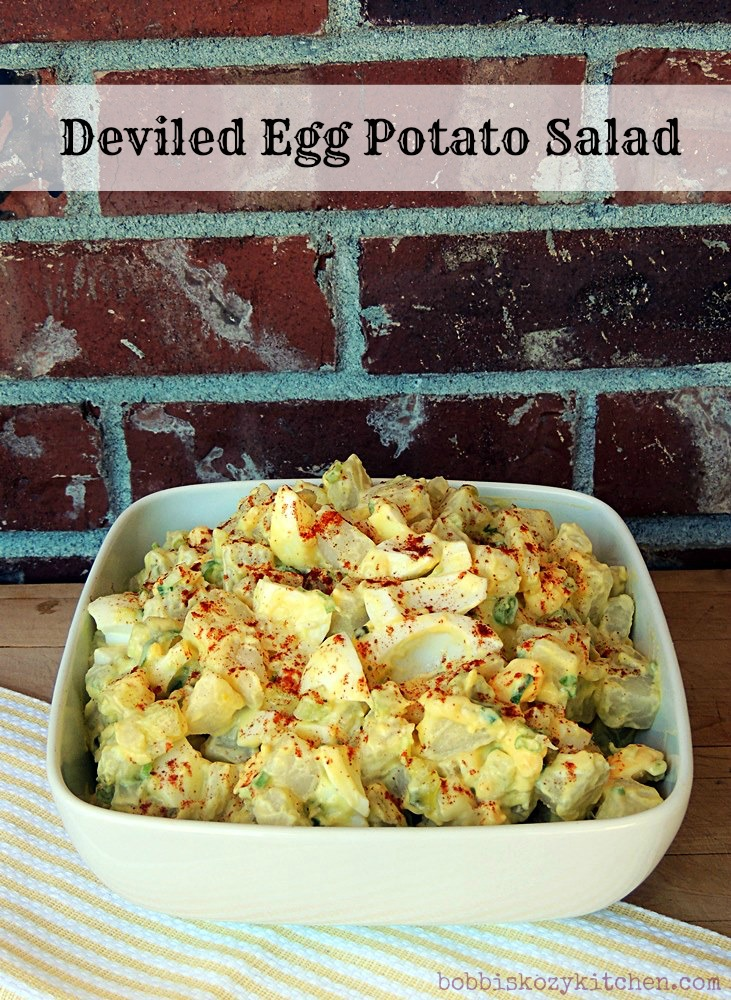 Deviled egg potato salad bobbi 39 s kozy kitchen for How to make homemade deviled egg potato salad