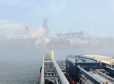Kapal Meletup Di Jeti Petronas Labuan 26/7/2012