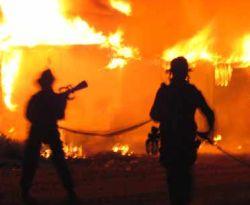 Kebakaran Hanguskan Rumah di Nganjuk - Jawa Timur