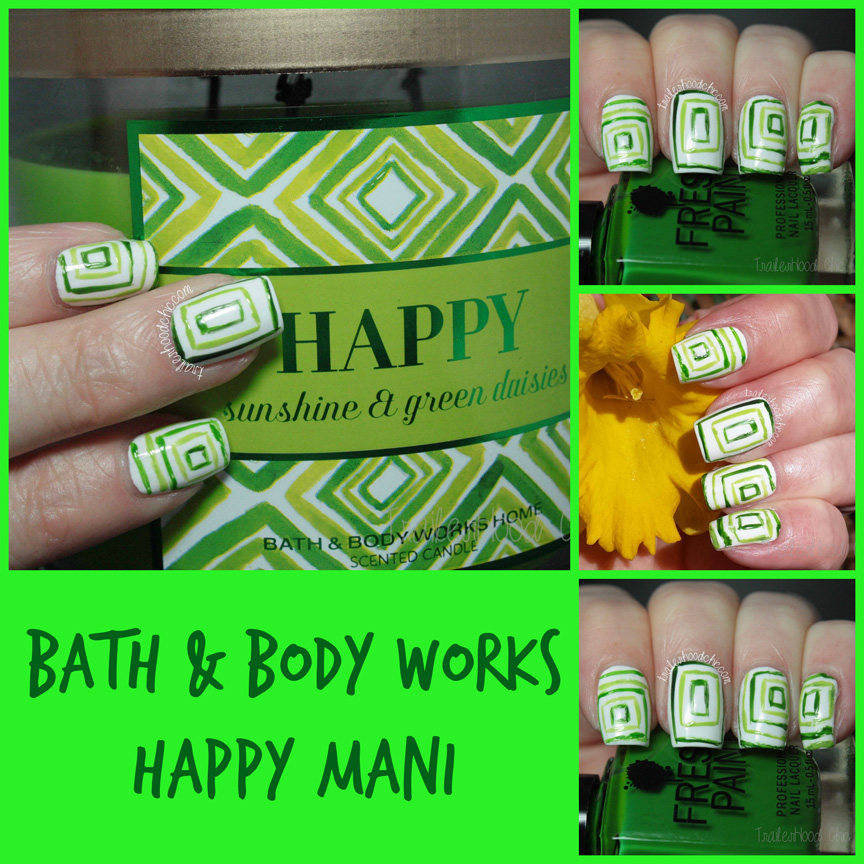 bath and body works happy candle mani