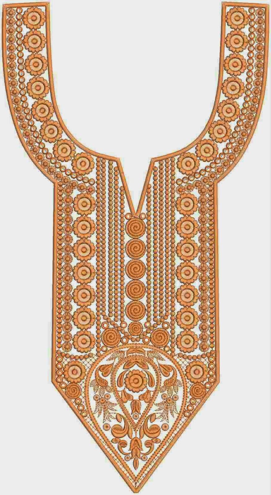 Embdesigntube Pakistani Dress Embroidery Lovely Neck Designs