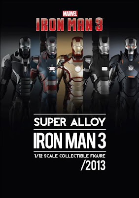 "Play Imaginative 1/12 Scale 6"" Iron Man 3 Diecast Action Figure Assortment"