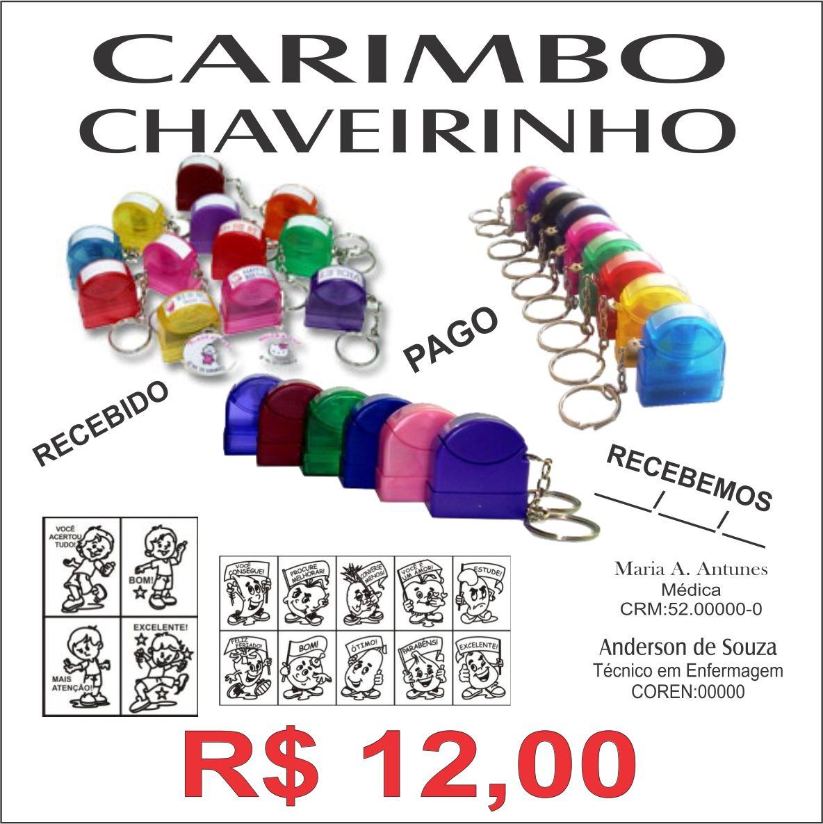 PROMOÇÃO DE JULHO:Carimbo chaveiro com preço de revenda para  #0E763E 1184x1185