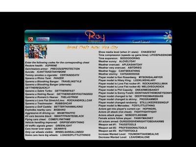 gta vice city pc cheats pdf
