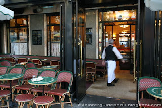 Stylish Classic Cafe de Flore interior Paris
