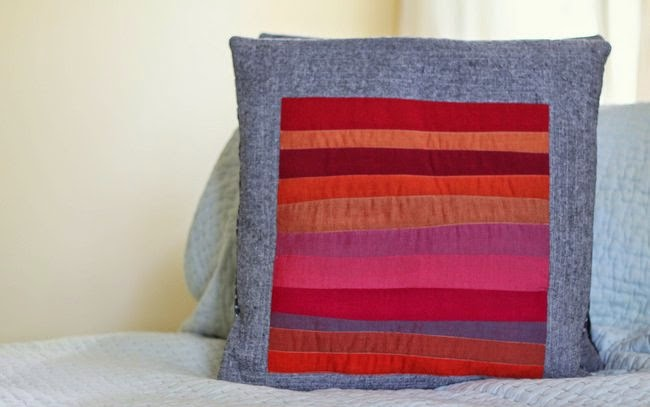 oakshott ruby quilted pillow