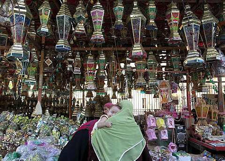 Ramadan lanterns in a shop in Cairo
