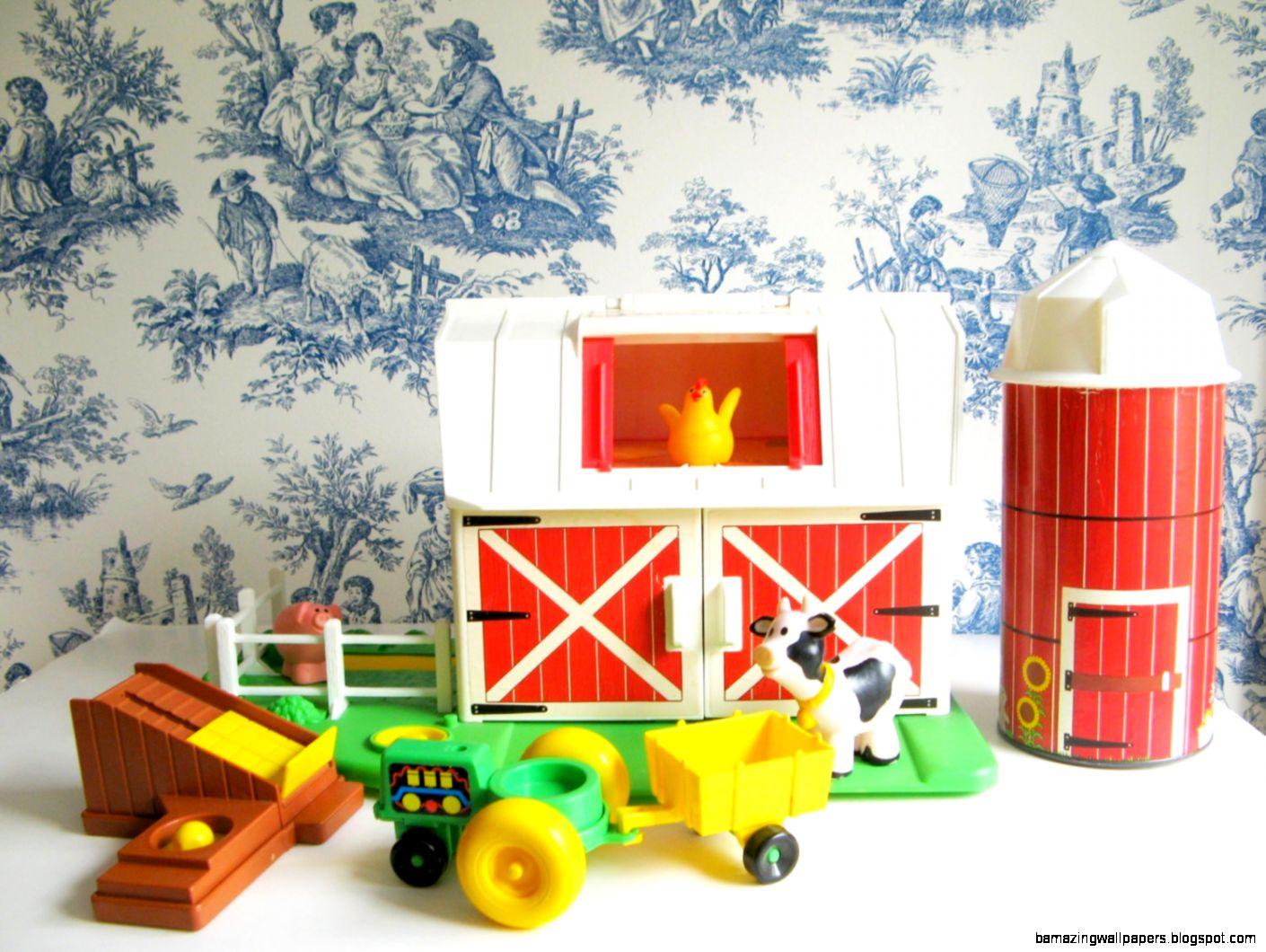Fisher Price Farm Red Barn Tall Silo Farm by FluffyFlowers