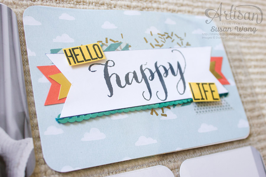 Hello Life Stamp Set + Project Life detail ~ Susan Wong