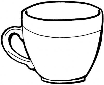 para salvar imprimir e pintar o desenho clique no desenho da xicara e