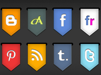 Ribbon social icons