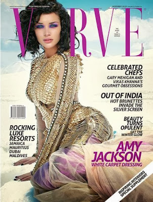Amy Jackson on Verve Magazine's November 2013 Edition