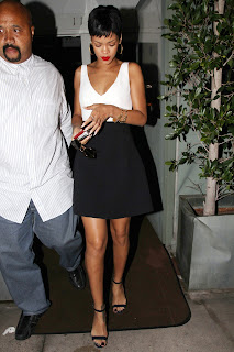 Rihanna leaving a restaurant in Los Angeles