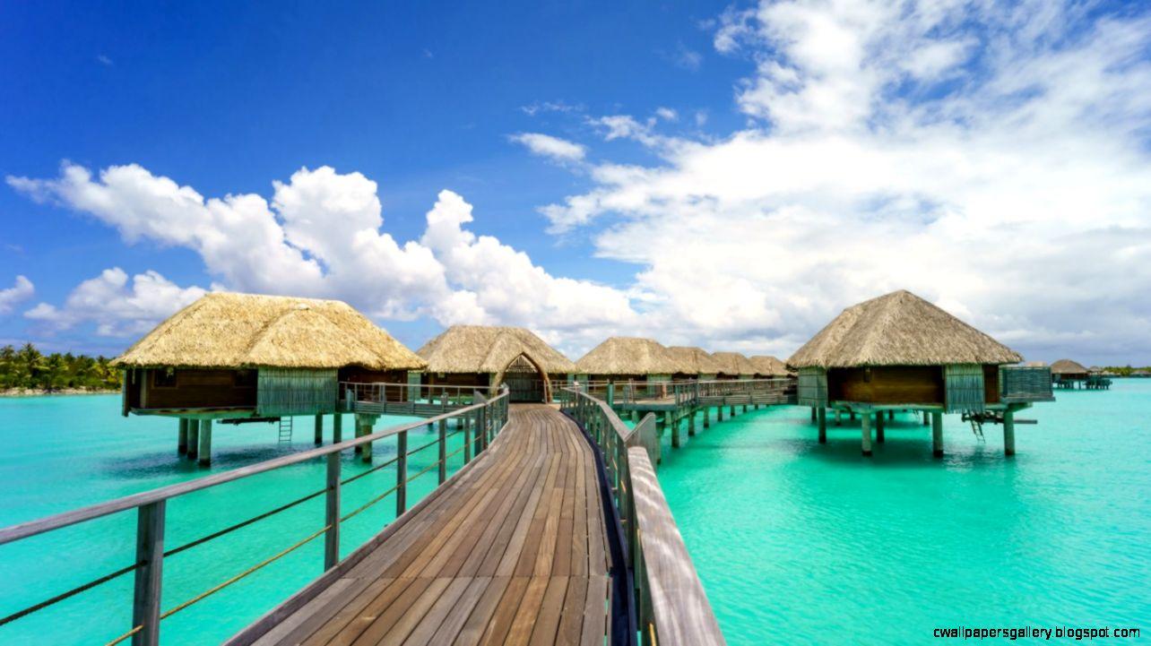 Tropical Paradise Resort Hut Sea Pier 1600x1200 Hd Wallpaper
