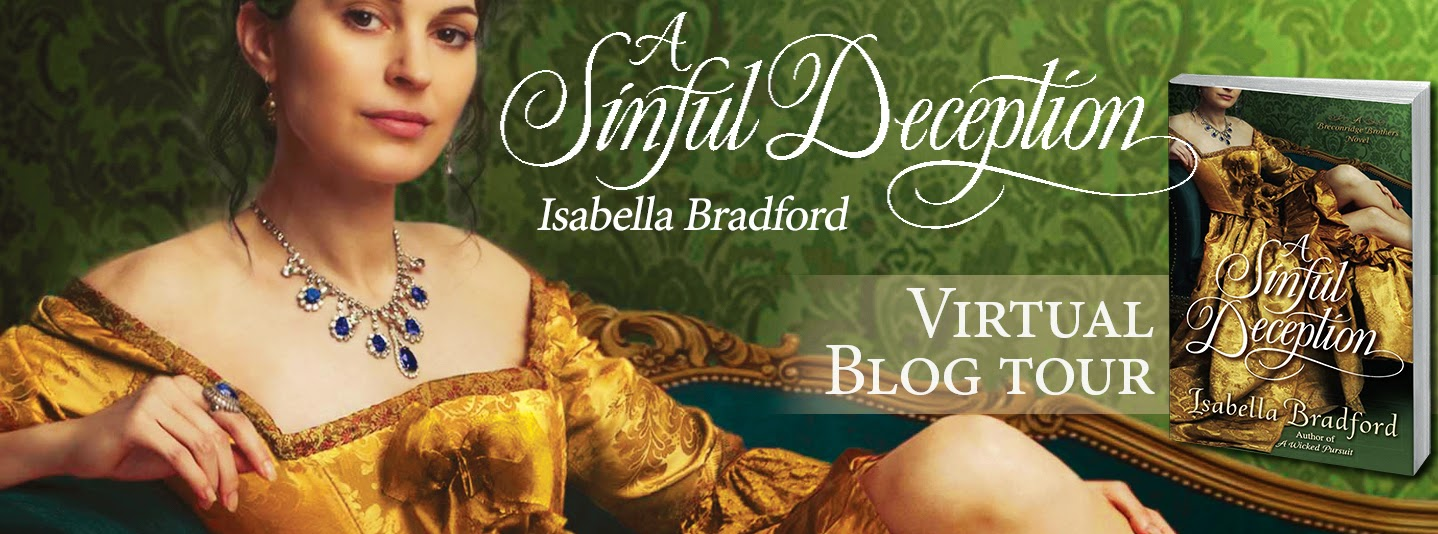 Blog Tour: Author Guest Post + Giveaway – A Sinful Deception by Isabella Bradford