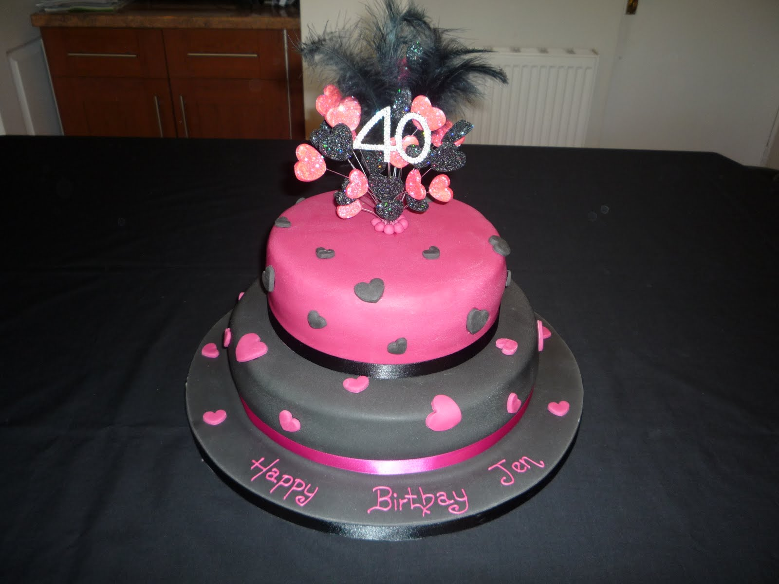 Elaine allan for 40th birthday cake decoration