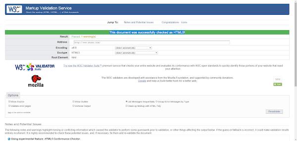 Situs Penguji Validator HTML5