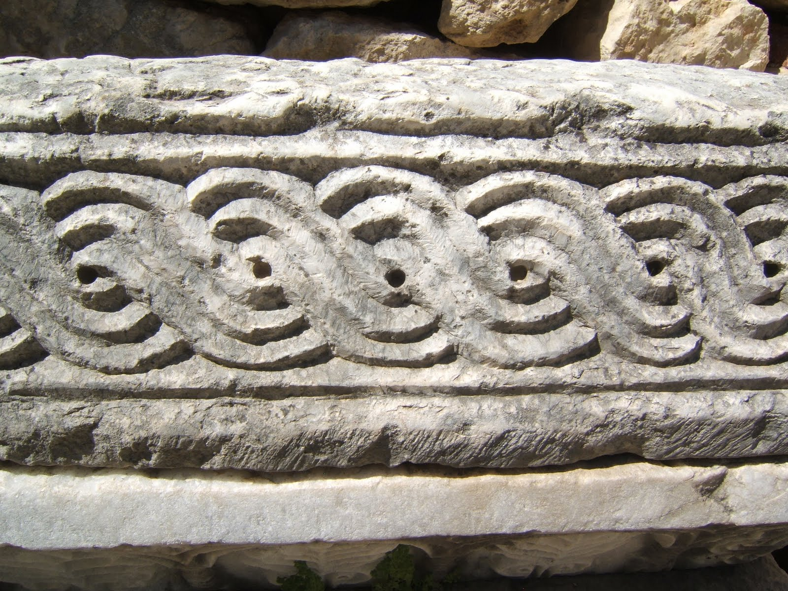 Carved stone knot work, from Church of St. Nicholas, Demre, Turkey