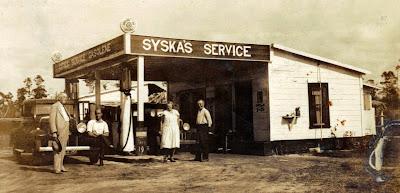 Syska Service Station- Deland Fla. 1930's