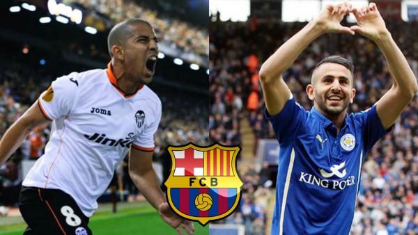 Sofiane Feghouli et Riyad Mahrez au FC Barcelone
