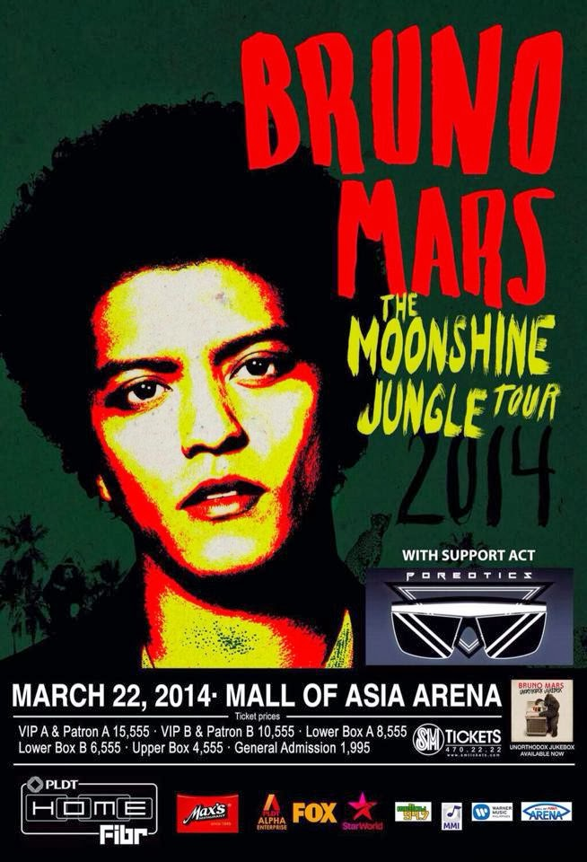 Bruno Mars at the Mall of Asia Arena, Manila, Philippines