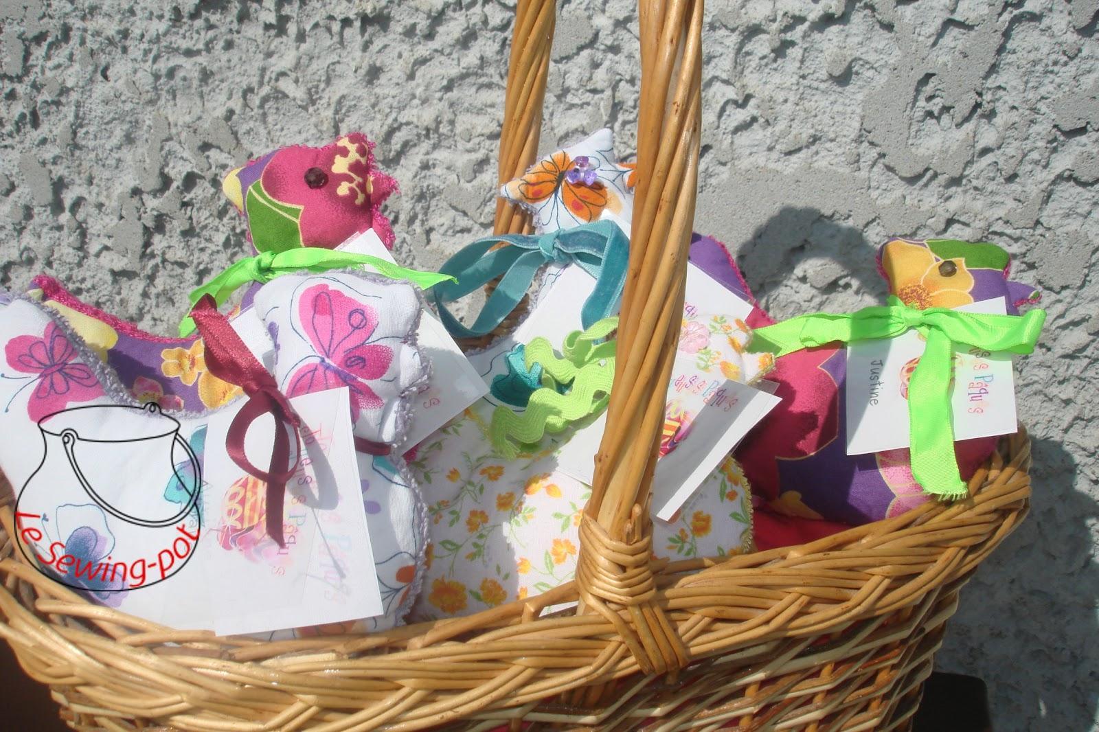 poules paques couture cadeau