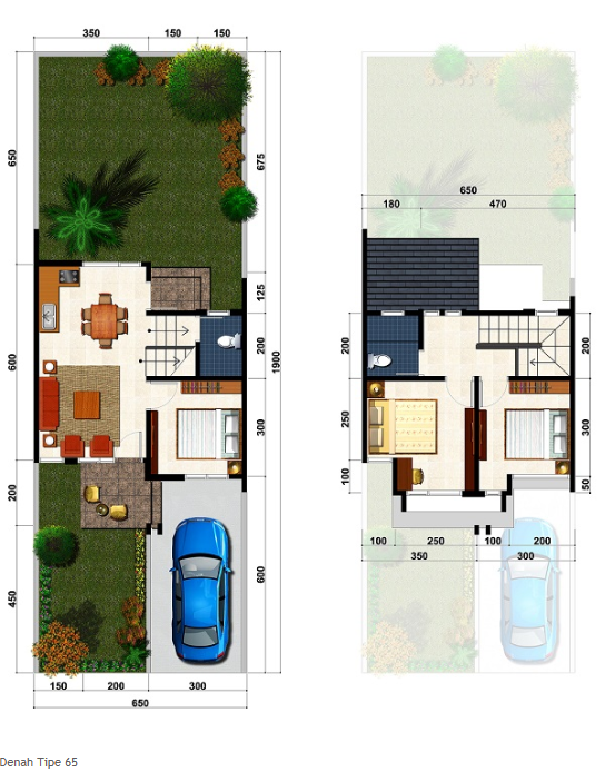 denah rumah murah minimalis