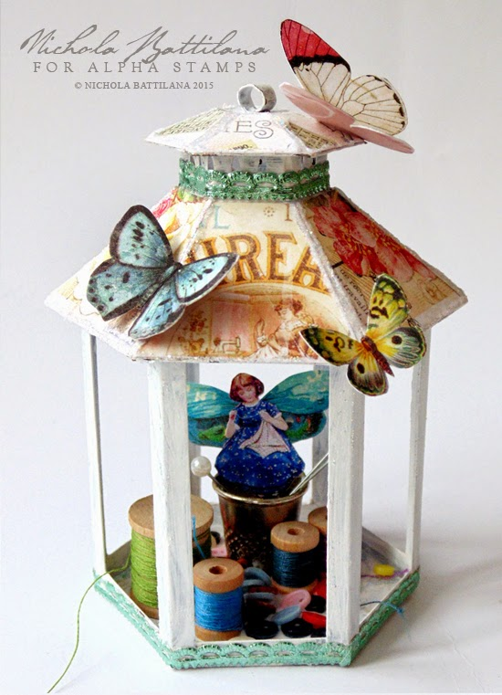 Cute as Buttons Gazebo for Alpha Stamps - Nichola Battilana