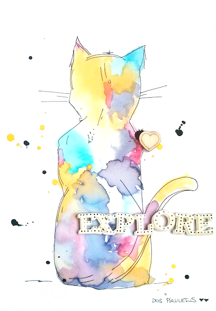 Art Journal Ilustration cat